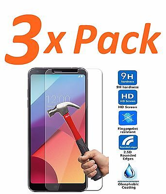 3x 9H HARD PREMIUM BALLISTIC TEMPERED GORILLA GLASS SCREEN PROTECTOR FOR LG G6