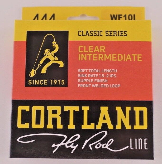 Cortland 444 Classic Clear Intermediate Fly Line WF10I FREE FAST SHIPPING 474376