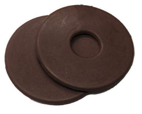 "BROWN Rubber Pair Bit Guards 3 1//4/"" Diameter Size Prevent Rubbing New Horse Tack"