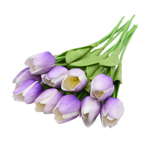 Artificial Tulip Fake Flower Silk Bouquet Bridal Touch Party Home Wedding Decor