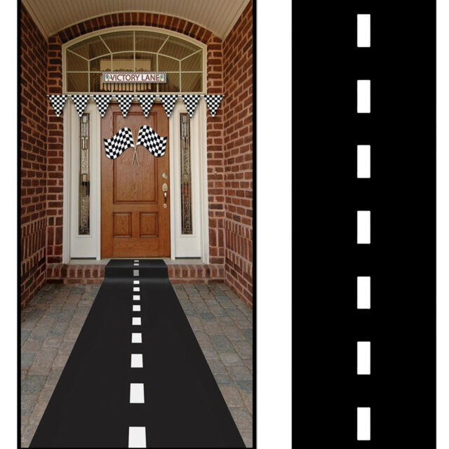 Racetrack Floor Runner Race Car Theme NASCAR Party Decoration Us Seller 10' X 2'