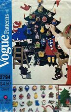 1980s vtg vogue christmas advent calendar and ornaments pattern 2794 uncut - 1980s Christmas Decorations