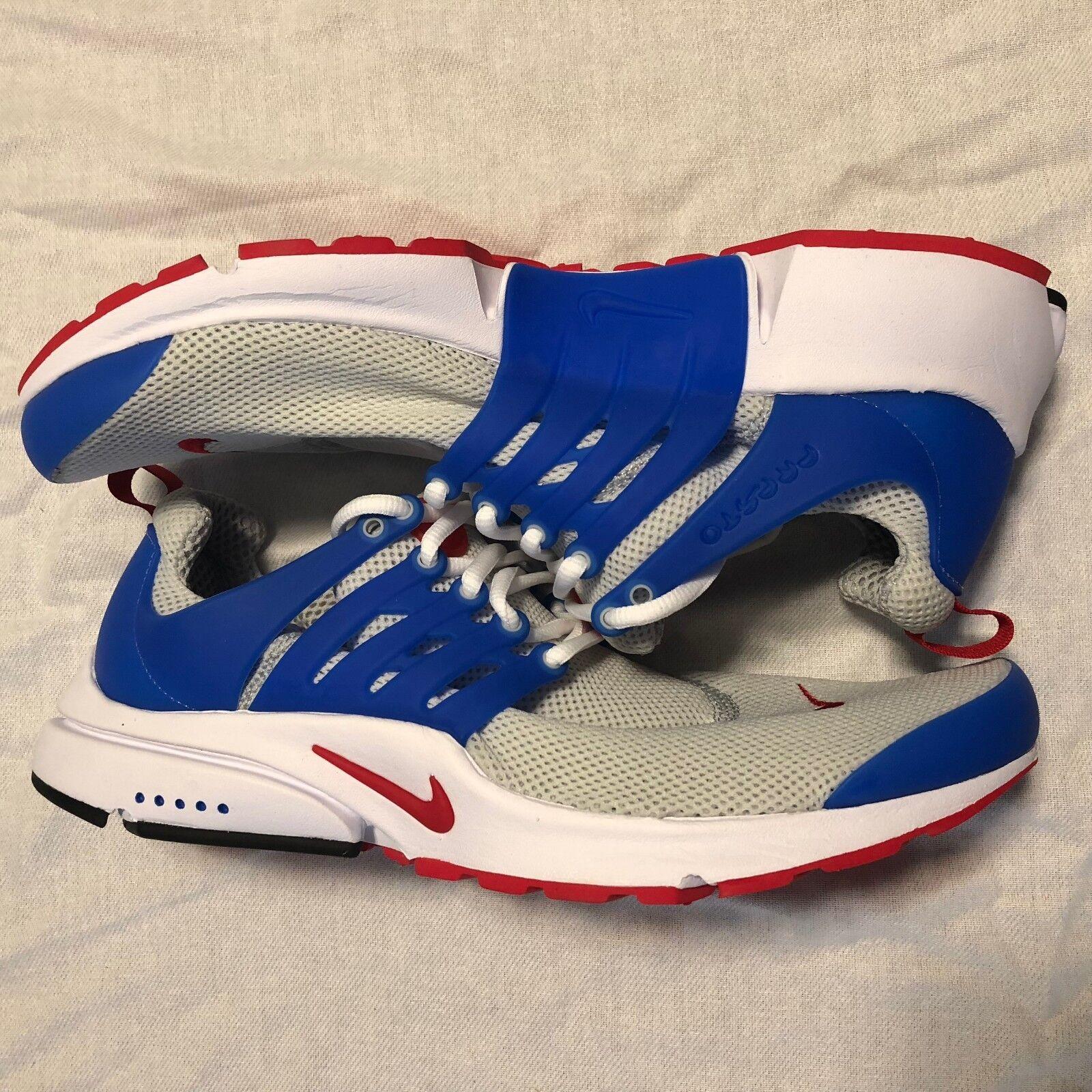 Nike air presto grey-red-blue taglia 11 11 taglia rari negli stati uniti.848187-004 nessuna scatola coperchio 65d807