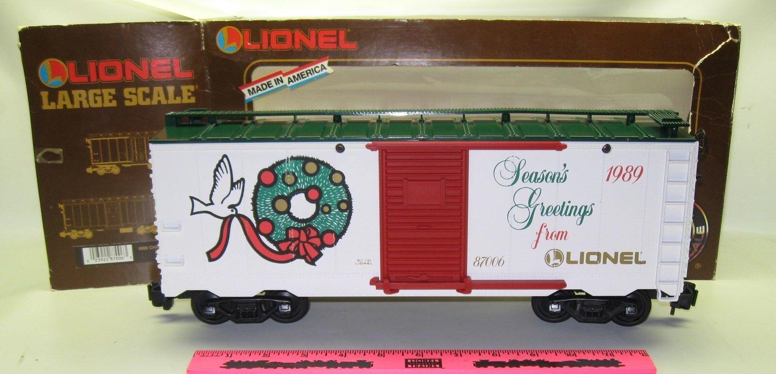 Lionel  8-87006 Christmas 1989 boxcar