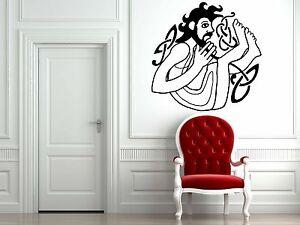 Wall-Room-Decor-Art-Vinyl-Sticker-Mural-Decal-Ancient-Tatto-Celtic-Man-FI883