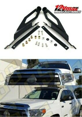 GS Powers 50 inch Curved LED Light Bar Mount Brackets for Mounting Off-Road Auxiliary Work Lights at Roof Cab Upper Windshield Compatible with 2007-2019 Toyota Tundra