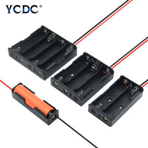Plastic 18650 Battery Storage Case Box Holder 1/2/3/4 Slots with Wire Leads 3.7V