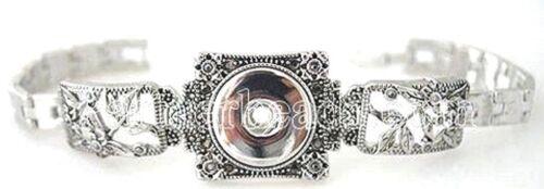 Silver Leaf Branch 20mm Snap Interchangeable Bracelet For Ginger Snaps Magnolia