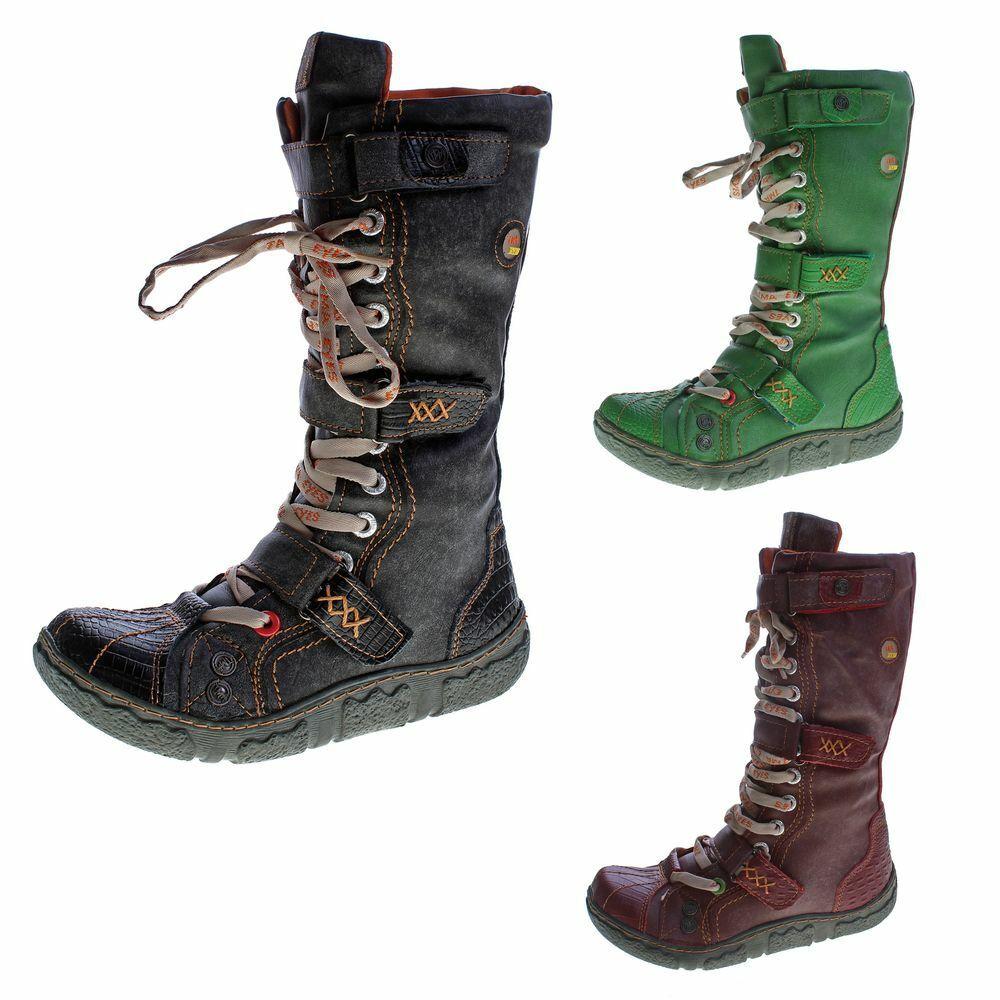 Damen Leder Winter Comfort Stiefel gefüttert echt Leder Schuhe TMA 7086 Neu