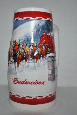 "Budweiser Beer Stein Holiday 2010 /""Dashing through the Snow/"""