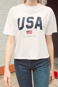 4d6ee84e Image is loading New-Brandy-Melville-white-Aleena-USA-New-York-