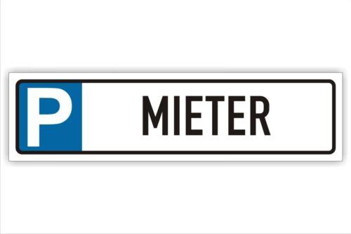 3mm Option Erdspieß,-Wandmotage Reservierer-Parkplatz-Schild 50x13cm Alu-Verb