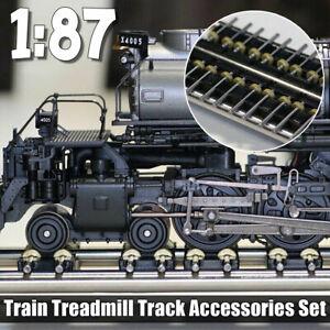 1-87-Model-Train-Wheels-Ho-Scale-Metal-Treadmill-Track-Lokomotive-Accessori-Set