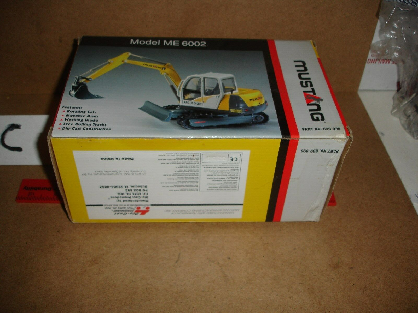 1 25 Mustang ME 6002 Compact Excavator by DCP - new in box