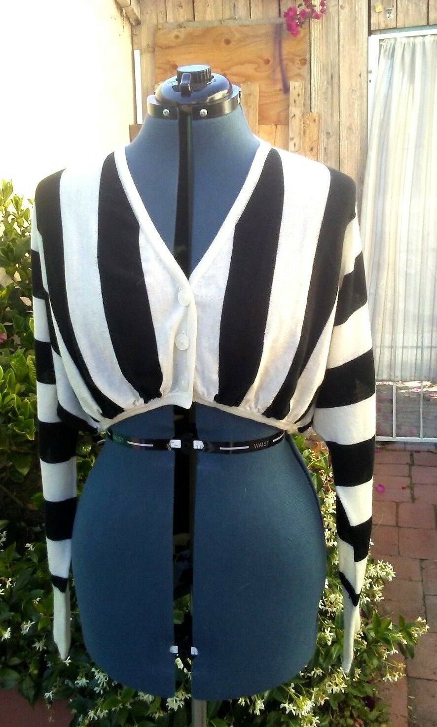 Jean Paul Gaultier vtg belly cropped top with amazing sleeves NWButton but old