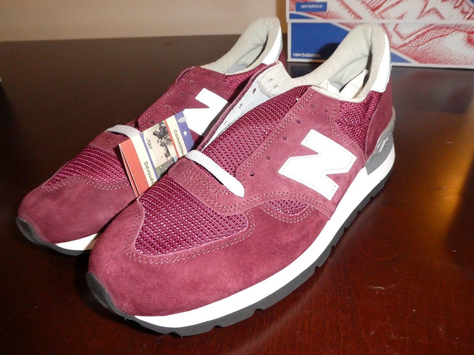 Uomo M990BD New Balance 990 Shoes Size 11 M990BD Uomo scarpe da ginnastica burgundy 81976d