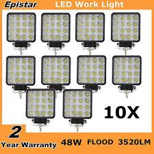 10X 48W LED WORK LIGHT BAR FLOOD BEAM LAMP OFFROAD TRUCK SUV UTE ATV RZR SQUARE