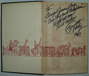 RARE-VINTAGE-SIGNED-AUTOGRAPH-EMMETT-KELLY-BOOK-CLOWN-PUBLISHED-1956-LONDON