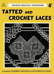 Weldon/'s 6D #88 c.1930 Vintage Crochet Patterns for Lace Edgings Household Linen