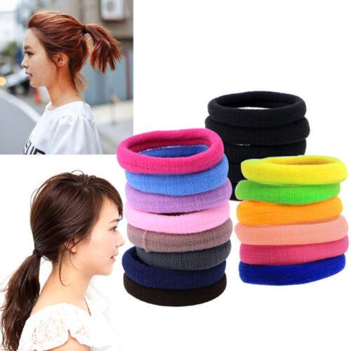 Lot 50Pcs Women Girls Hair Band Ties Rope Ring Elastic Hairband Ponytail Holder