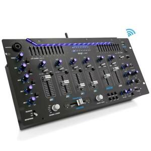 Pyle-PYD1964B-Bluetooth-6-Channel-DJ-Mixer-19-034-5U-w-LED-Illuminated-Controls