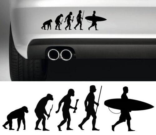 SURFEUR SURFER EVOLUTION SINGE /> HOMME  26cmX7,5cm AUTOCOLLANT STICKER SA151N
