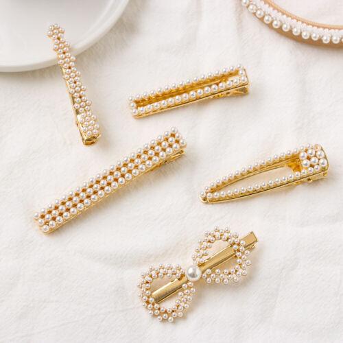 New Fashion Pearl Hair Clip Metal Hairpins Girls Hairpins Barrette Hairgrip