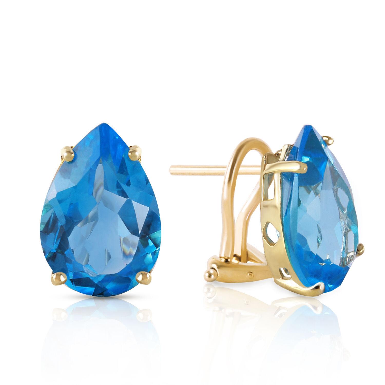 10 CTW 14K Solid gold Inspiration blueee Topaz Earrings
