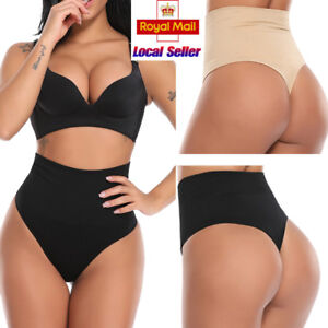 549ba53590b0a Women Brief G String High Waist Tummy Control Thong Invisible ...