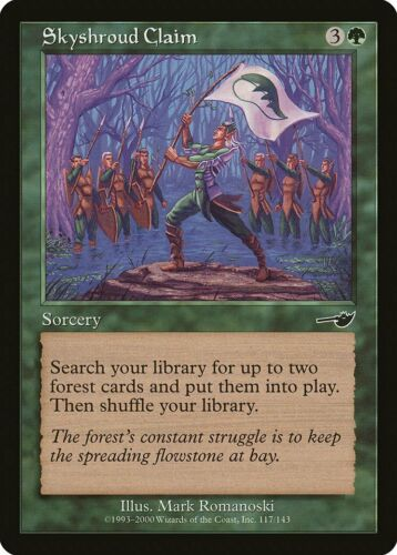 Skyshroud Claim Nemesis NM Green Common MAGIC THE GATHERING MTG CARD ABUGames