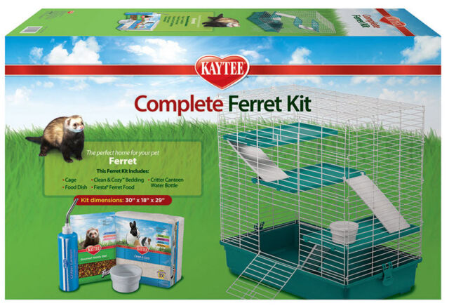 Kaytee Fiesta My First Home Complete Starter Cage Kit for Rabbits