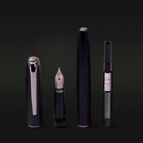 New Picasso 916 Metal Black Fountain Pen BLACK EF//M//Bent Nib Office Gift Ink Pen