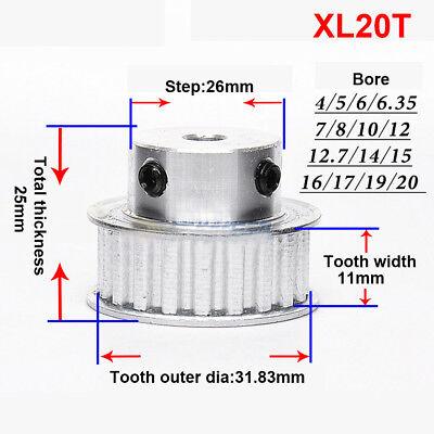 Synchronous Timing Belt Pulley Gear Wheel Sprocket XL45T  For 10mm Width Belt