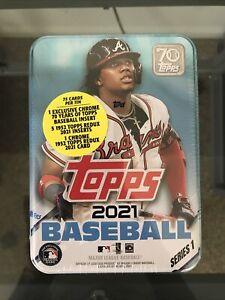 2021 Topps Series 1 MLB Baseball Tin Trading Cards Brand New Sealed