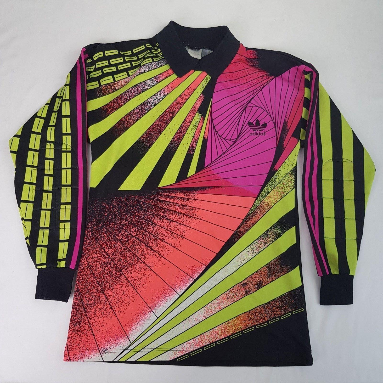 Adidas Vintage Goalie Jersey Goalkeeper 90er 90s SHIRT Größe S JERSEY 90s i13