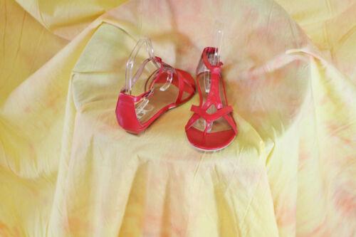 sommerliche Dianette Zehensteg-Sandale Echtleder rot Gr 41
