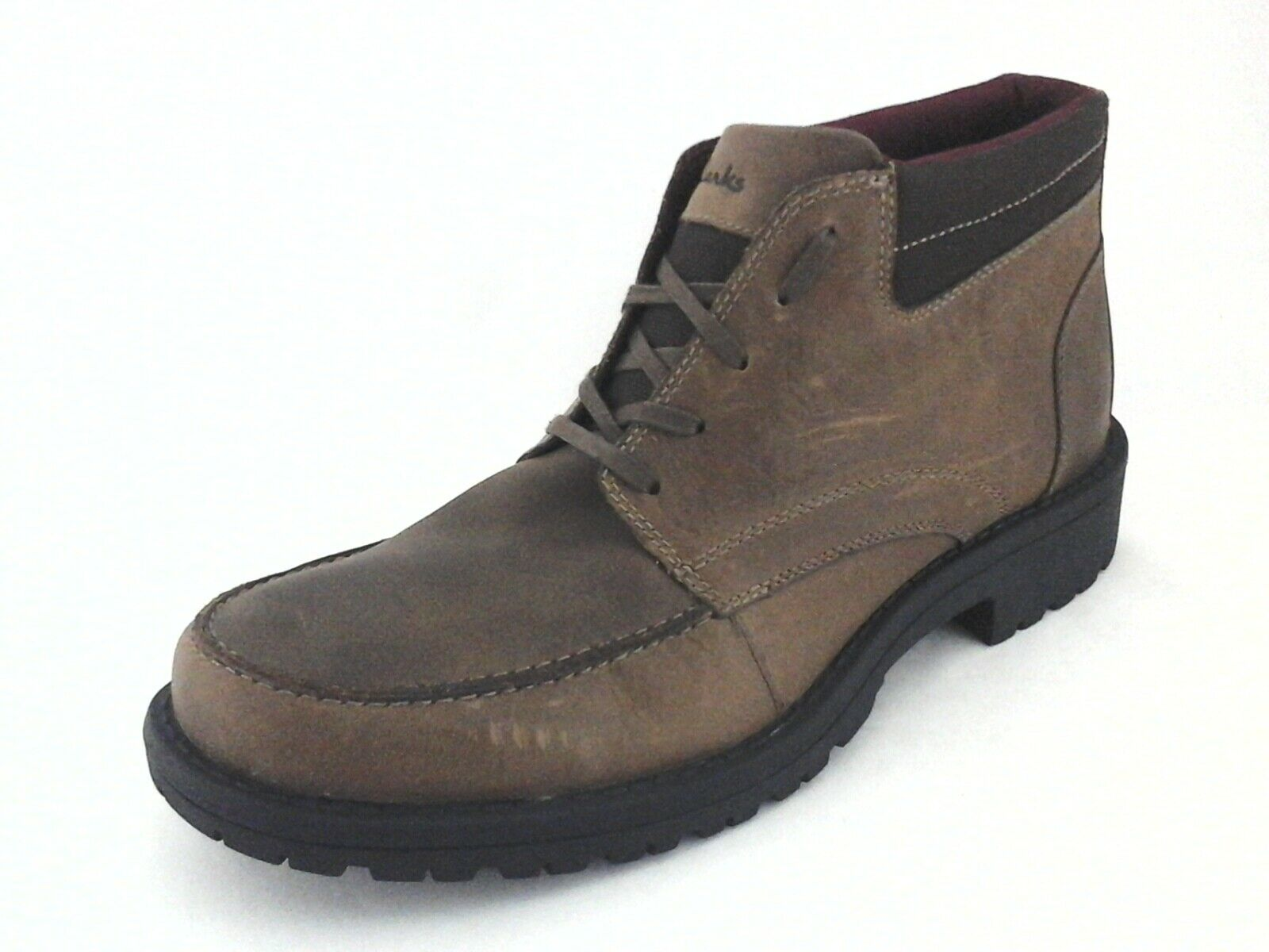 Clarks Ankle Boots Brown w Lug Sole Leather Chukka Casual Men's US 12