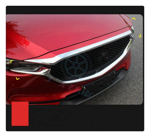 1pcs ABS Chrome Front Hood Frame Trim Garnish h For Mazda CX-5 2nd Gen 2017-2018