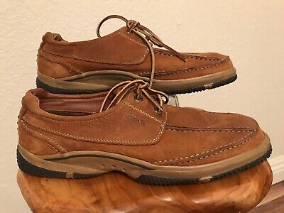 clarks brown pebbled suede leather lace up casual comfort