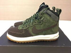 super popular 729f3 c90b5 Image is loading Nike-Lunar-Force-1-Duckboot-Baroque-Brown-Army-