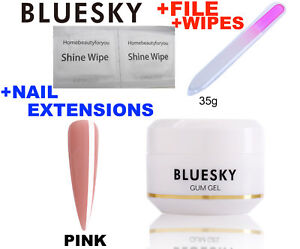 Bluesky Gum Gel Pink 35g Uv Led Soak Off Artificial Nail Tips Create Extensions,sculpt,enhance Nails Selected Material