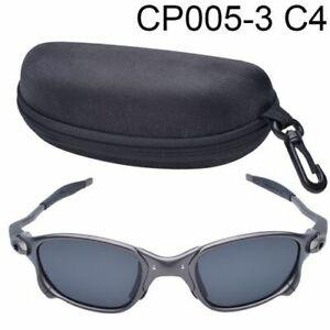 Ruby Polarized Glass Titanium Goggles X-Metal Juliet Cyclops Sunglasses UV400