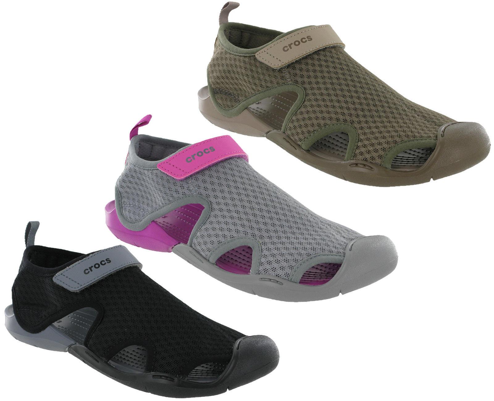 Crocs Swiftwater Sandale Damen Strand Netz Sommer Urlaub flach Sea Schuhe
