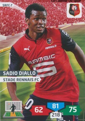 SRFC-07 SADIO DIALLO # GUINEA STADE RENNAIS CARD ADRENALYN FOOT 2014 PANINI