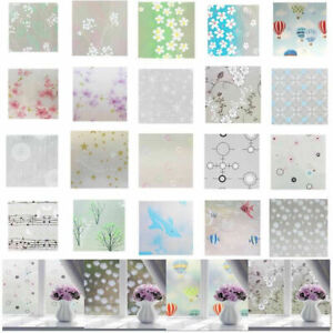 3D-Static-Cling-Frosted-Stained-Flower-Glass-Window-Film-Sticker-Privacy-Home