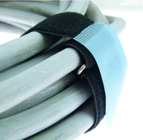 20 Klettkabelbinder 500 x 50 mm hellblau Klett Kabelbinder Klettband Kabelklett