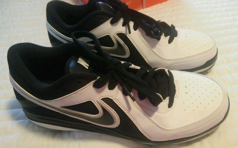 Nike Air MVP Pro Metal White/Black  524641 baseball cleats Mens 9.5