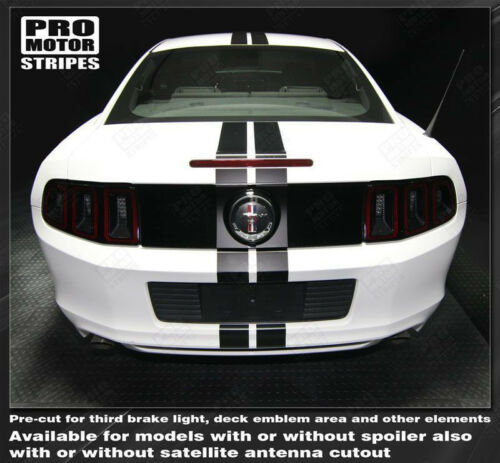Ford Mustang Over-The-Top Narrow Double Rally Stripes 2010 2011 2012 2013 2014