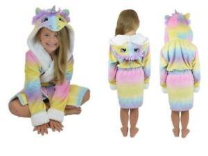 Filles Enfants Licorne Peignoir Vetements De Nuit Multicolore Ebay