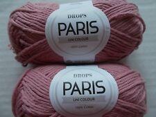 Bordeaux 54 yds ea Drops Eskimo Uni Colour  100/% wool yarn lot of 2